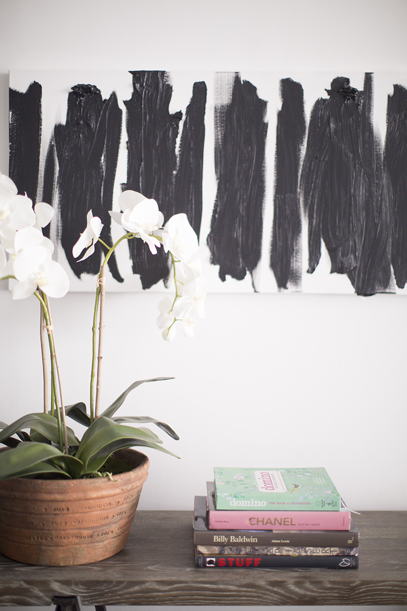 Books and orchids- doesn't get any lovelier