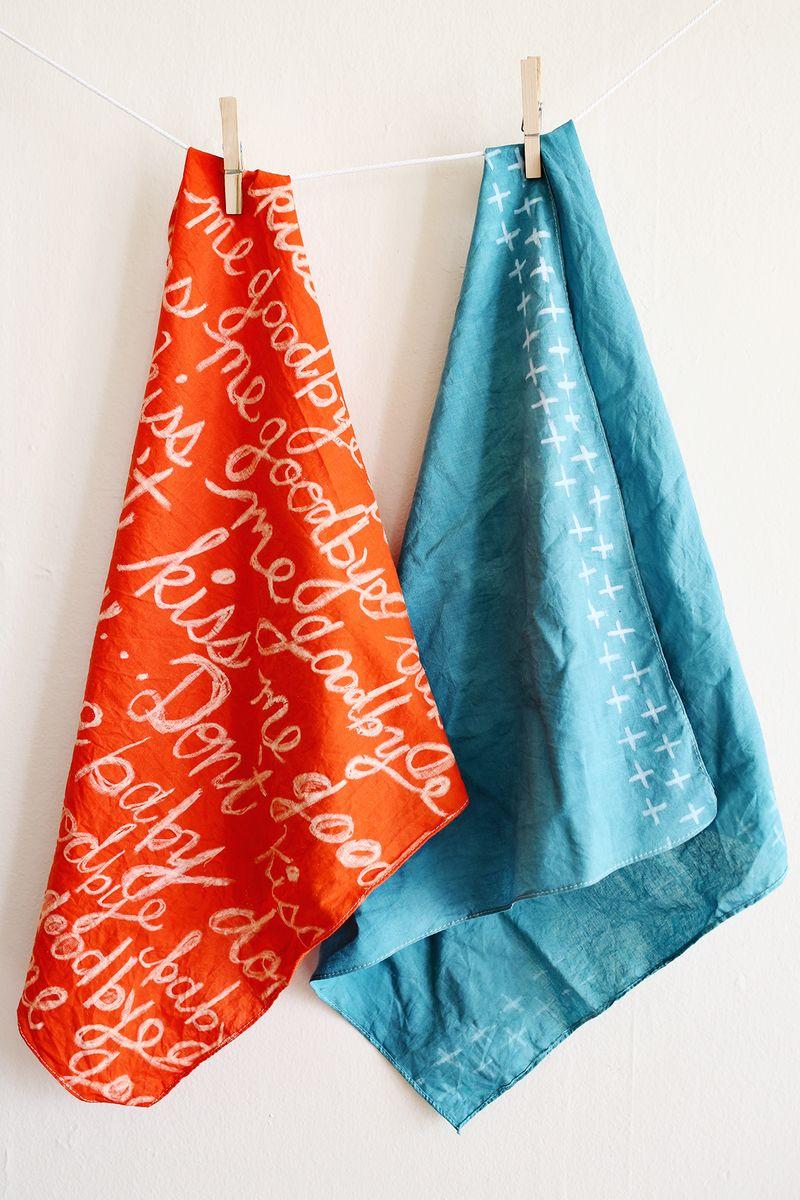 Wax resist scarf