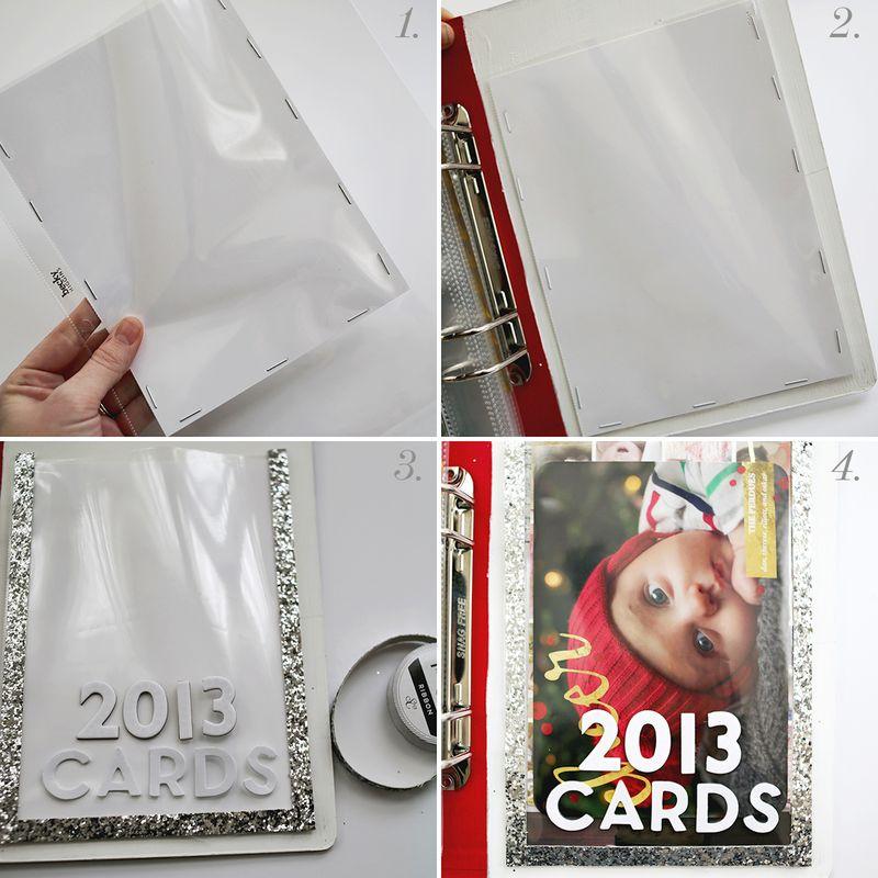Making a holiday card pocket
