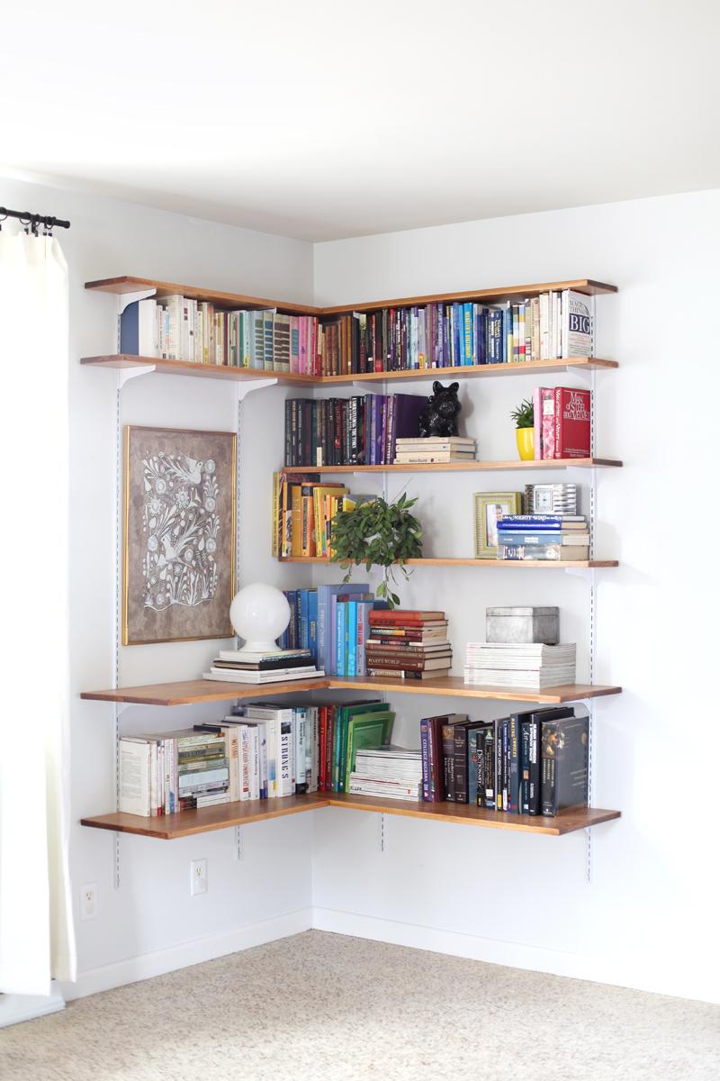 Build Organize A Corner Shelving
