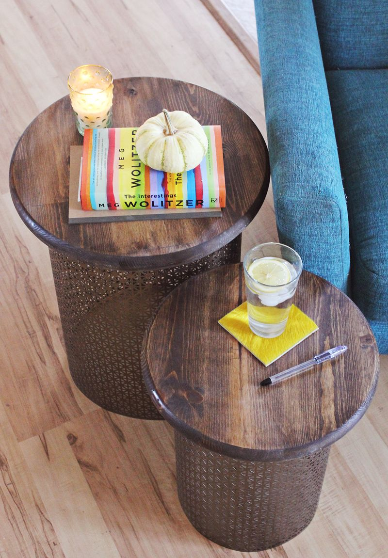 Brass side table DIY