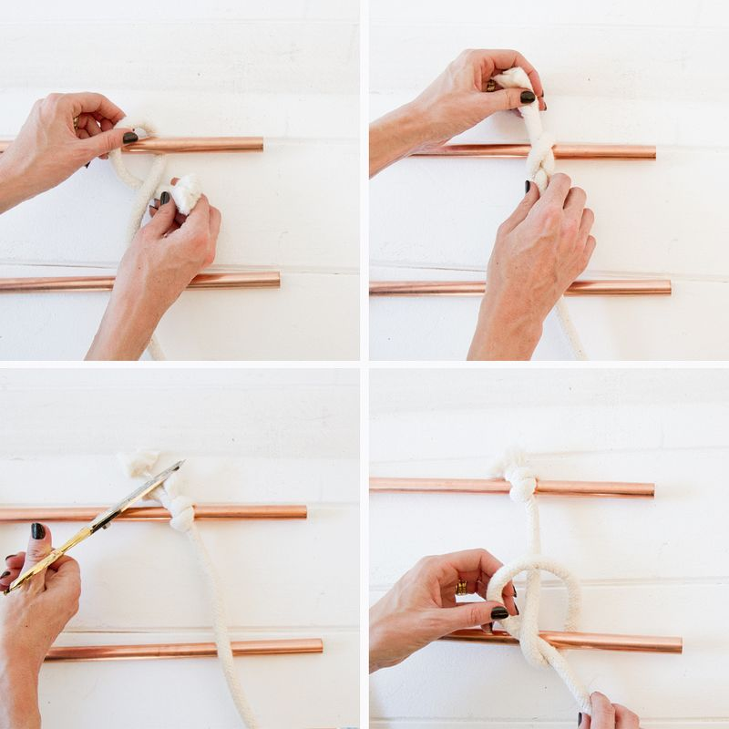 Wall-hanging-tutorial via A Beautiful Mess