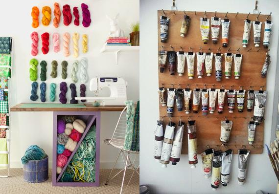 Organized craft room inspiration