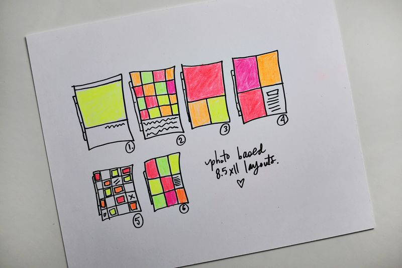 Planning my 8.5x11 layouts