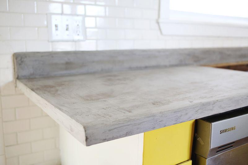 Concrete Countertop DIY Abeautifulmess.com ...