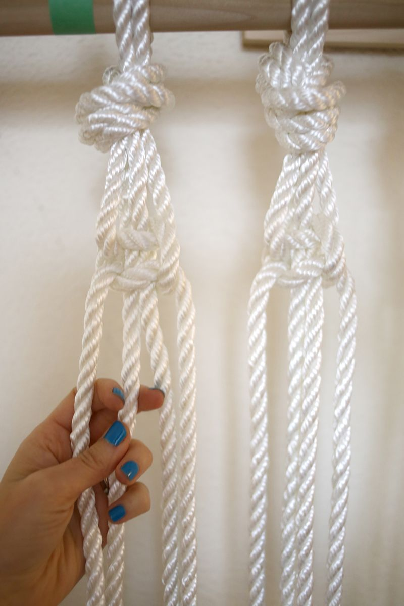 Make Your Own Macrame Curtain abeautifulmess.com
