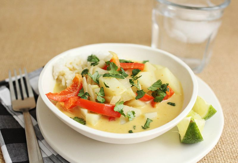 Einfaches gelbes Curry