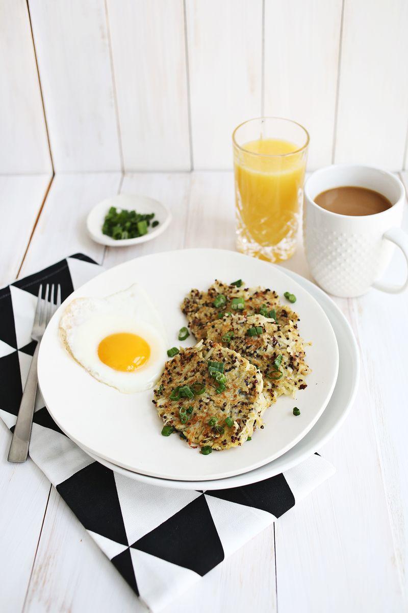 Quinoa Breakfast Hash Browns abeautifulmess.com