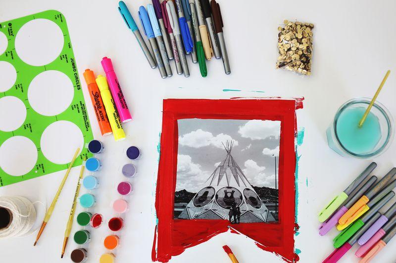 Make Your Own Art Journal Banner A Beautiful Mess