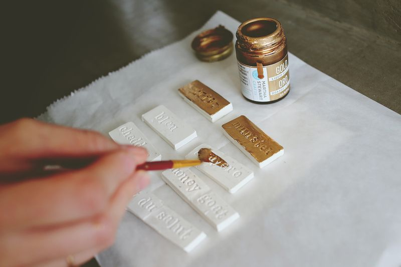 Gold Cheese Labels (the perfect D.I.Y. for a hostess gift or housewarming party!)