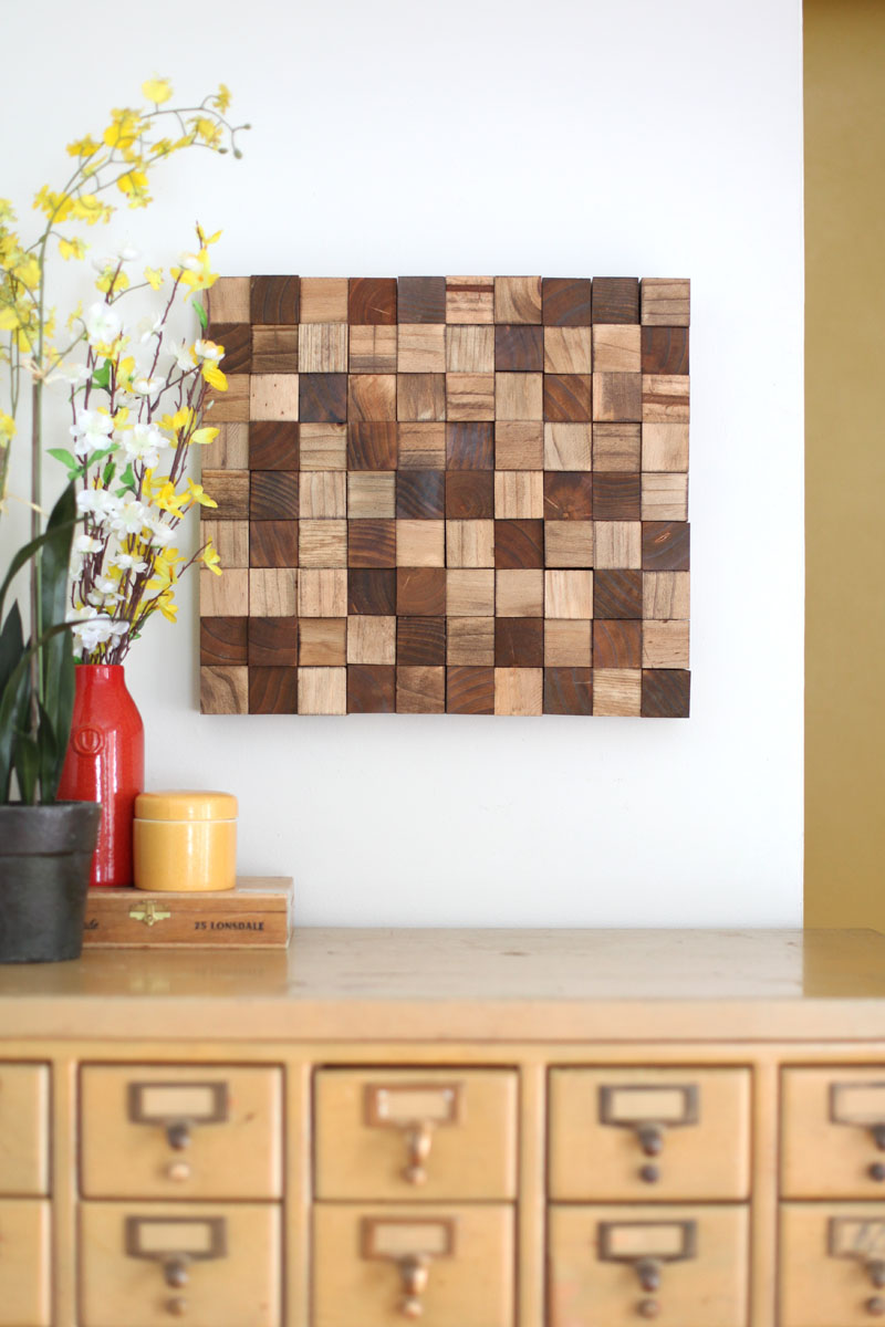 Wooden Mosaic Wall Art Diy A Beautiful Mess
