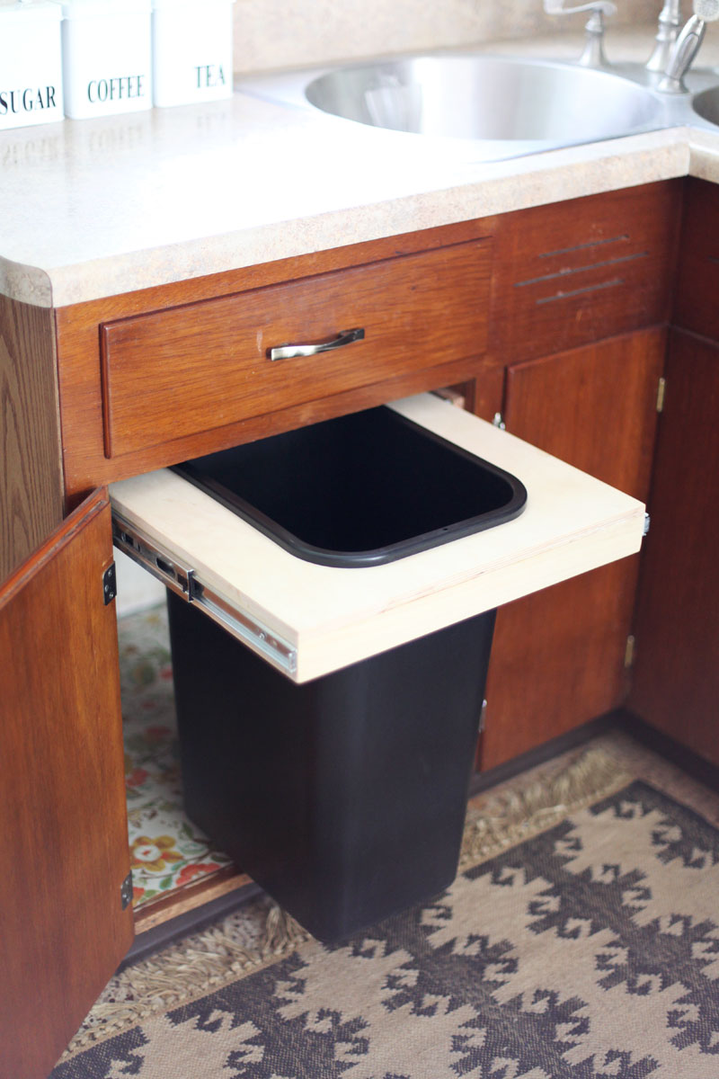 Cabinet Into A Pull Out Trash Bin