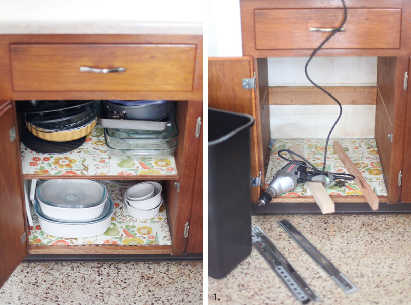 Convert A Cabinet Into Pull Out Trash Bin Beautiful Mess