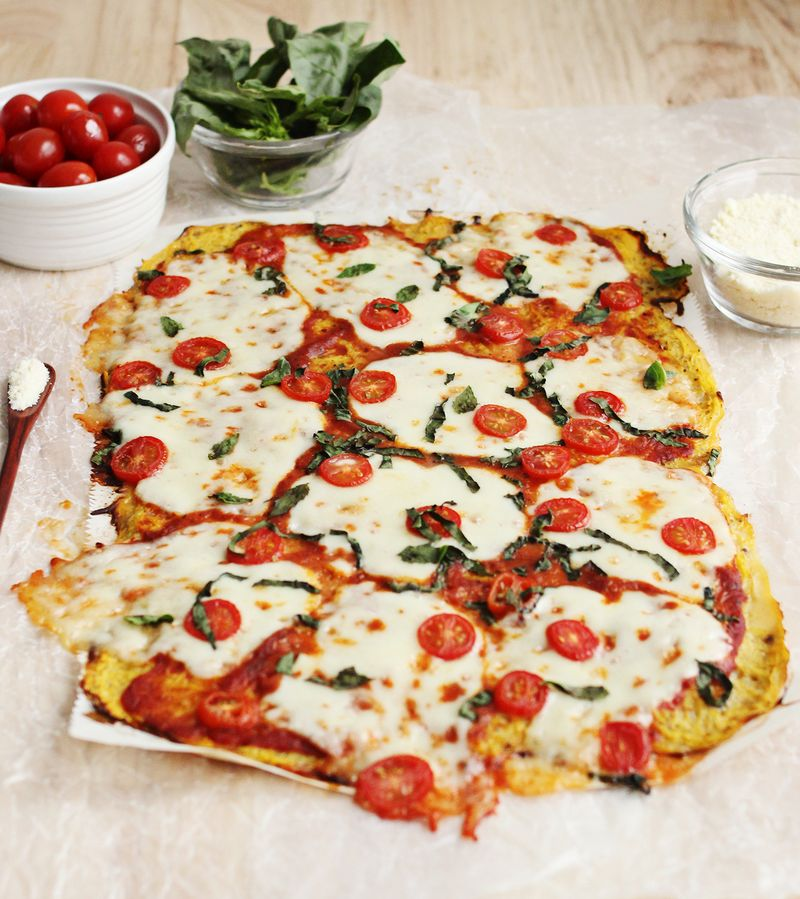 Spaghetti-Kürbis-Pizza-Kruste
