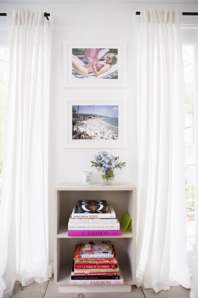 Stack books for perfect splashes of color