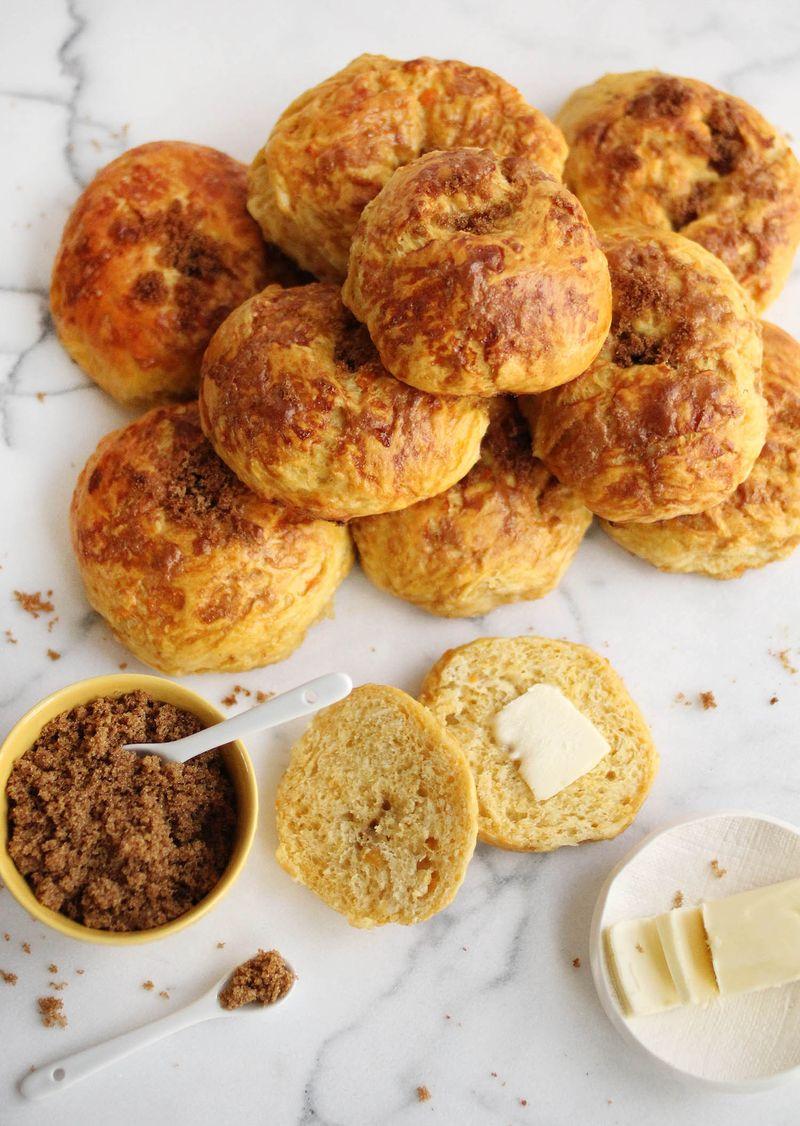 Süßkartoffel-Bagels