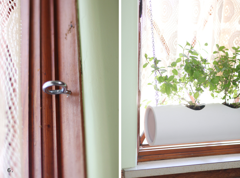 Make this floating PVC planter for growing herbs in your window- Supplies cost less than $10!