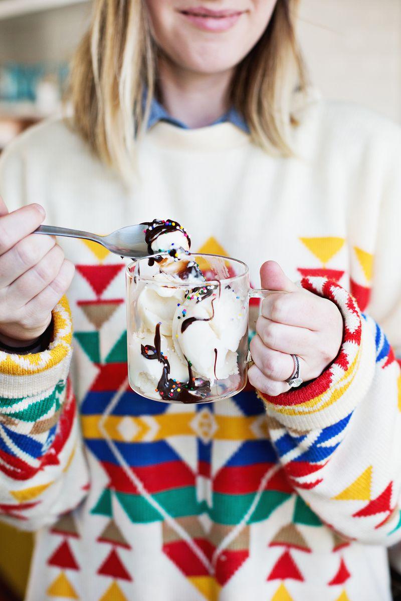 Homemade soy ice cream