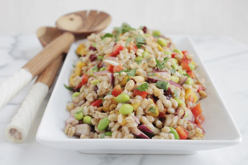 Thai inspired barley salad (click through for recipe)