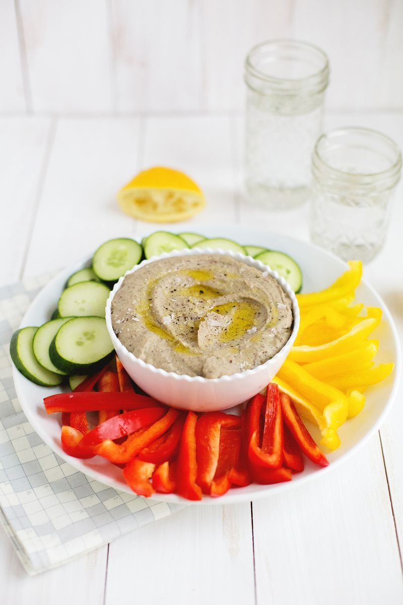 Black bean hummus (click through for recipe)