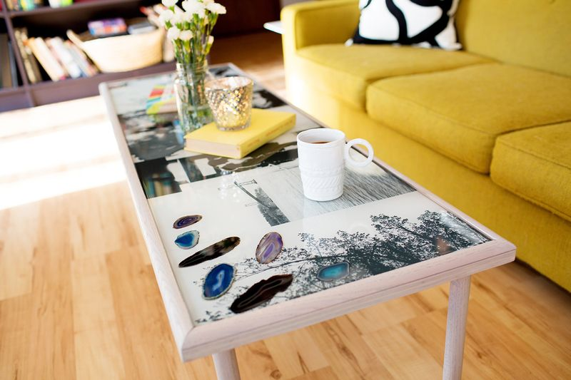 DIY epoxy resin coffee table