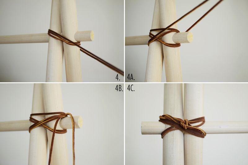 DIY clothing rack step 4