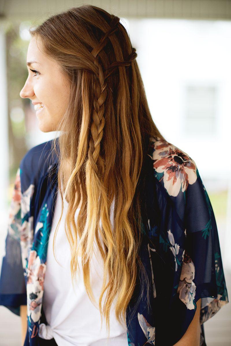 Lovely waterfall twist hairstyle via abeautifulmess.com