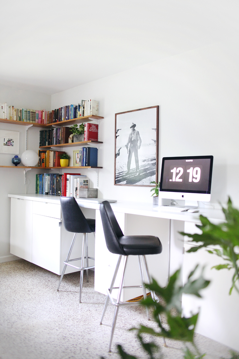 Make Your Own Custom Built-In Desk - A Beautiful Mess