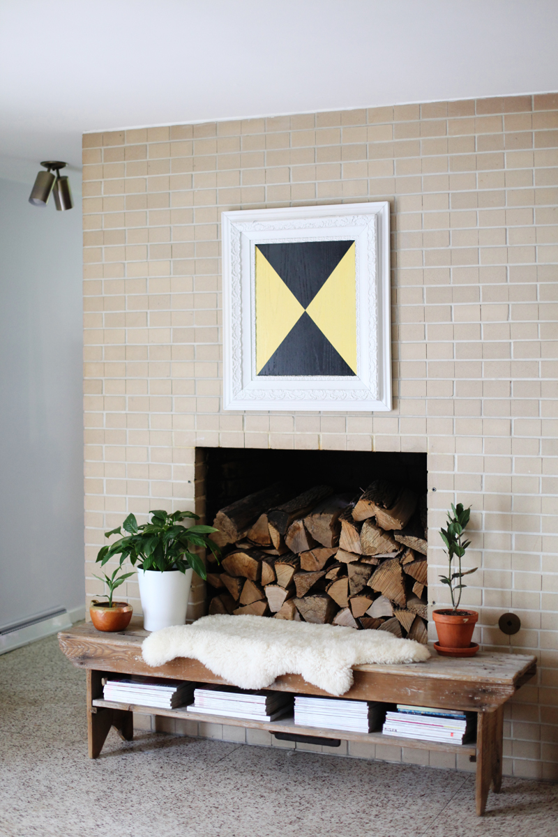Make this bold and textural art— perfect for mixing with antique frames!