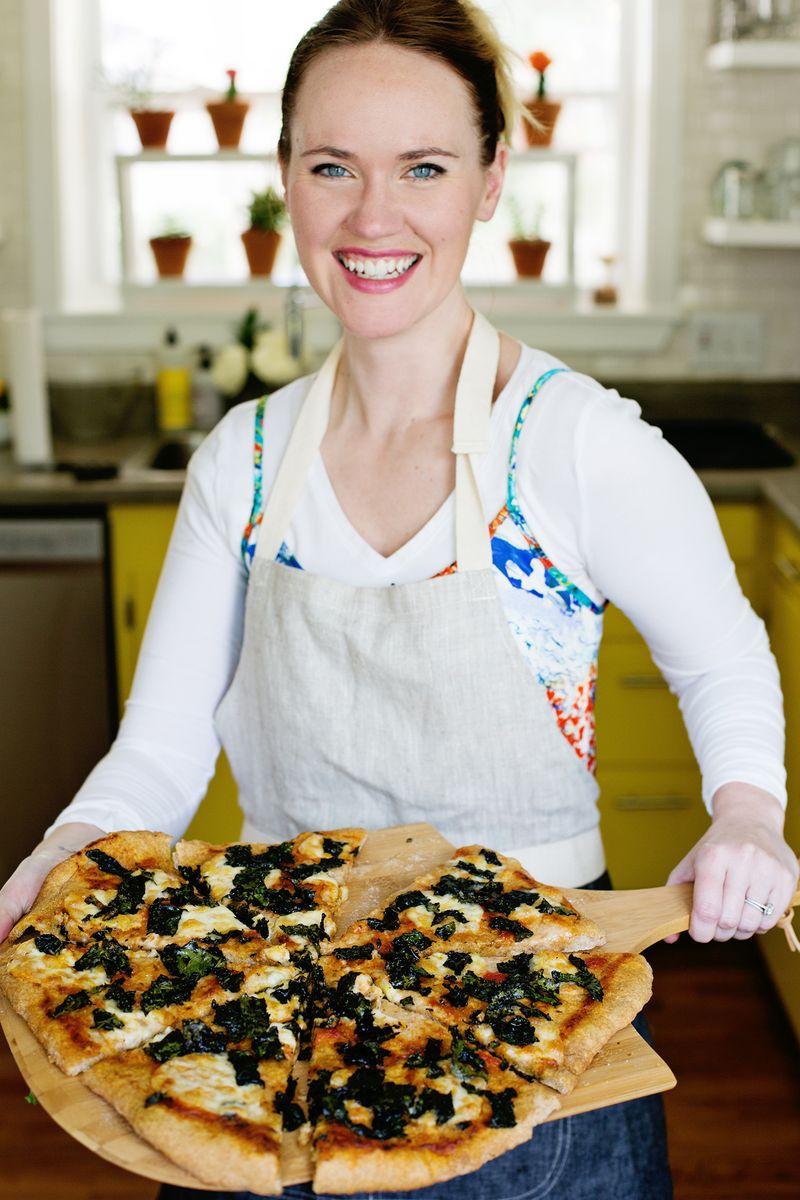 Crispy kale pizza (click through for recipe)