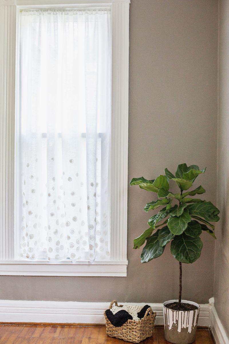 White Dot Curtains DIY