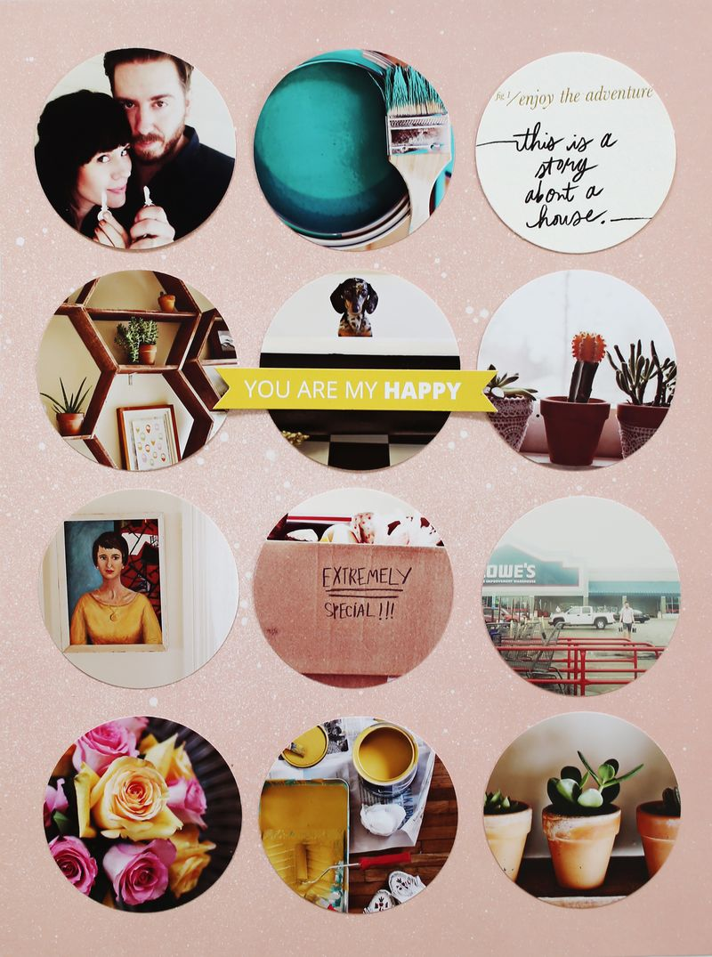 Photo Filled Scrapbook Pages