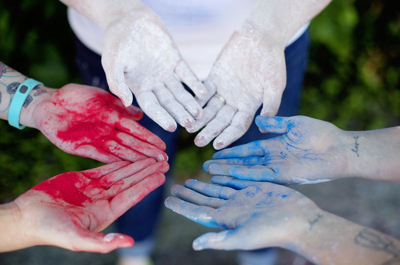 Homemade color powder