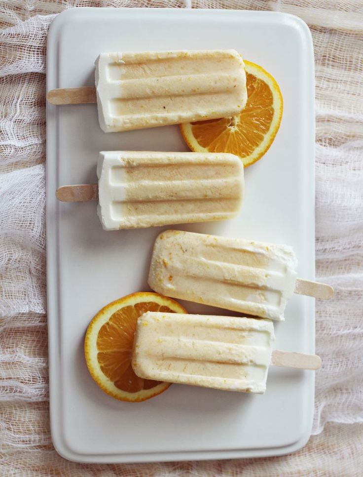 Homemade creamsicles