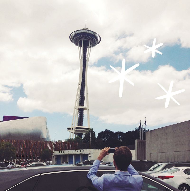 Trey at the space needle