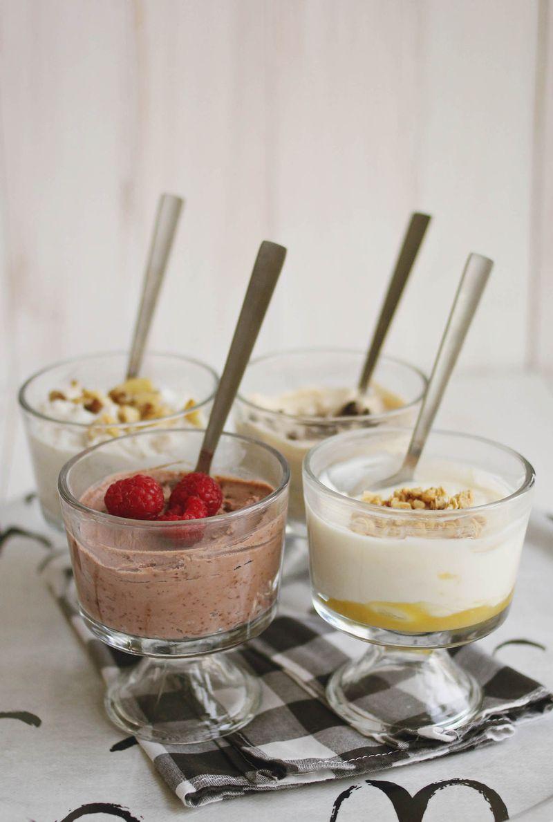 Greek yogurt 4 ways