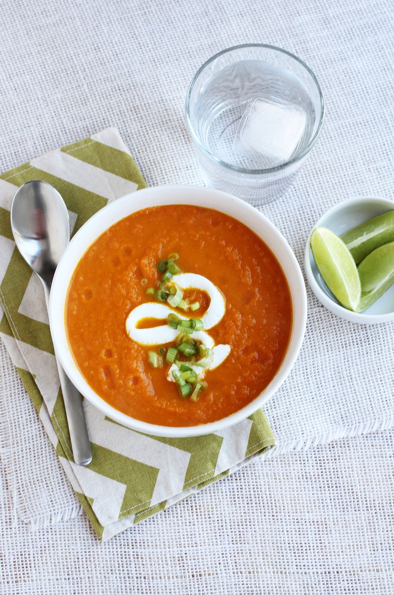 Ginger and lime carrot soup