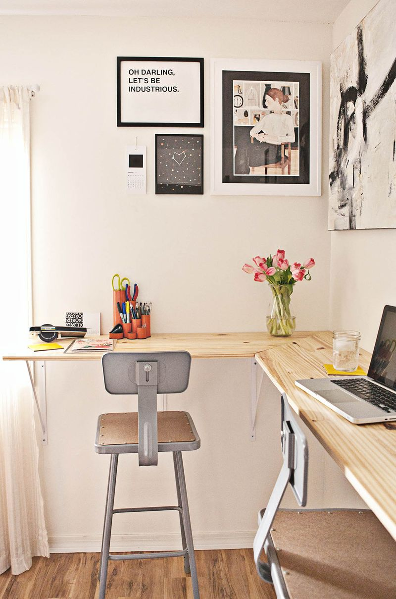 wall mounted office desk. Diy Standing Desk Wall Mounted Office S