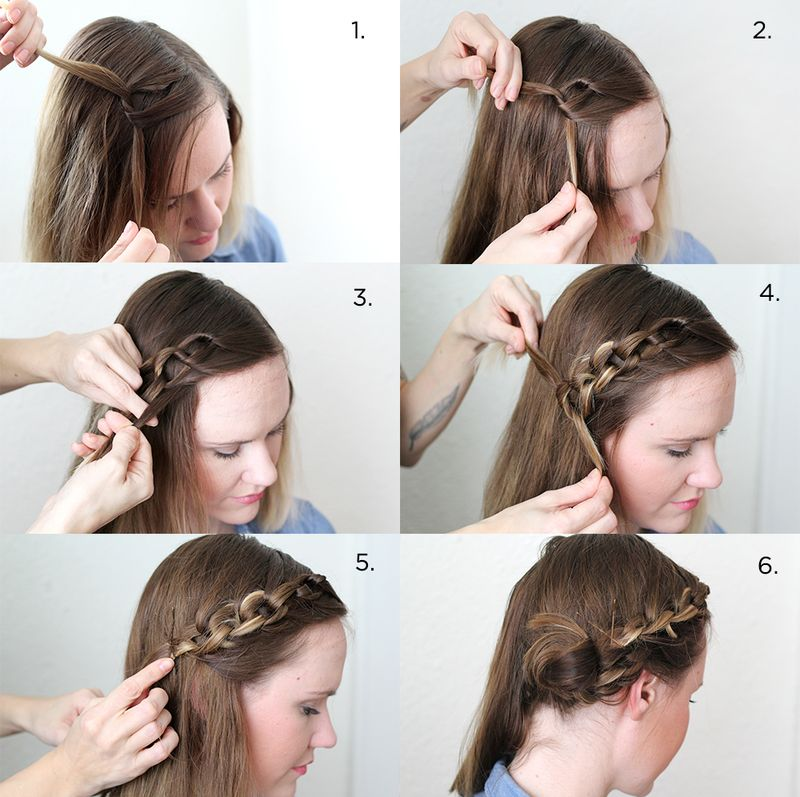 Lovely Chain Braid (click through for written steps)