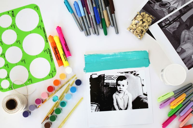 Make your own art journal banners