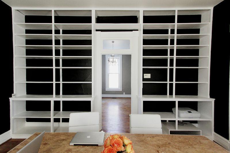 A Beautiful Mess Office shelves