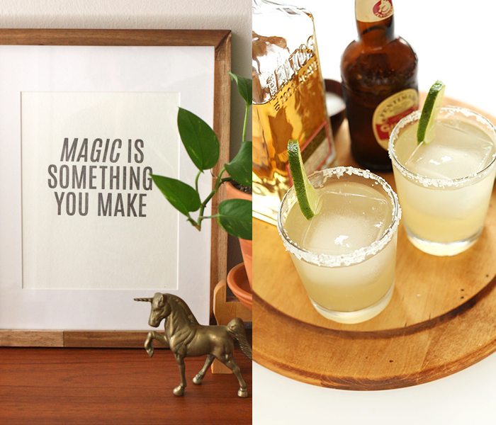 Elise cripe and ginger beer margaritas
