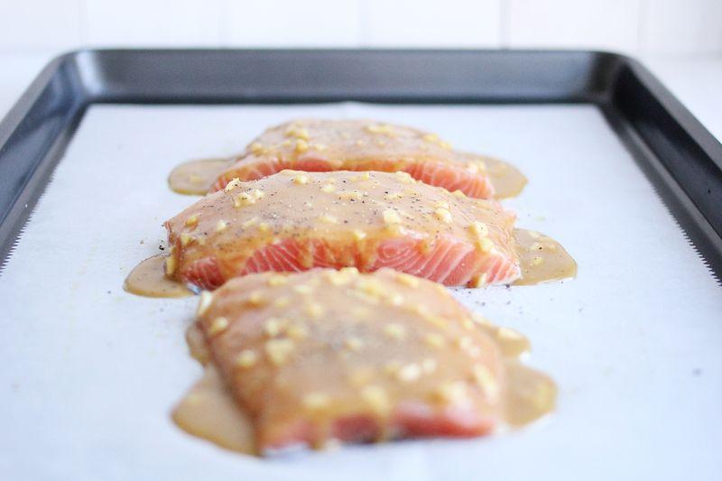 Miso and honey glaze for salmon
