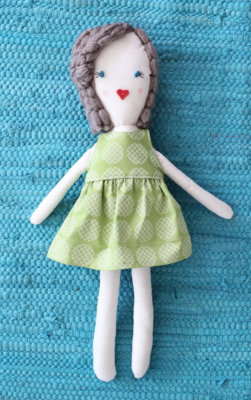 Rag Doll DIY (click through for free printable pattern