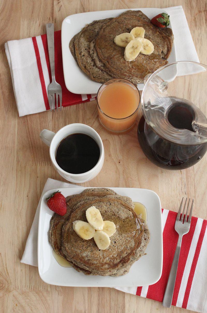 Gluten free pancakes (click through for recipe)