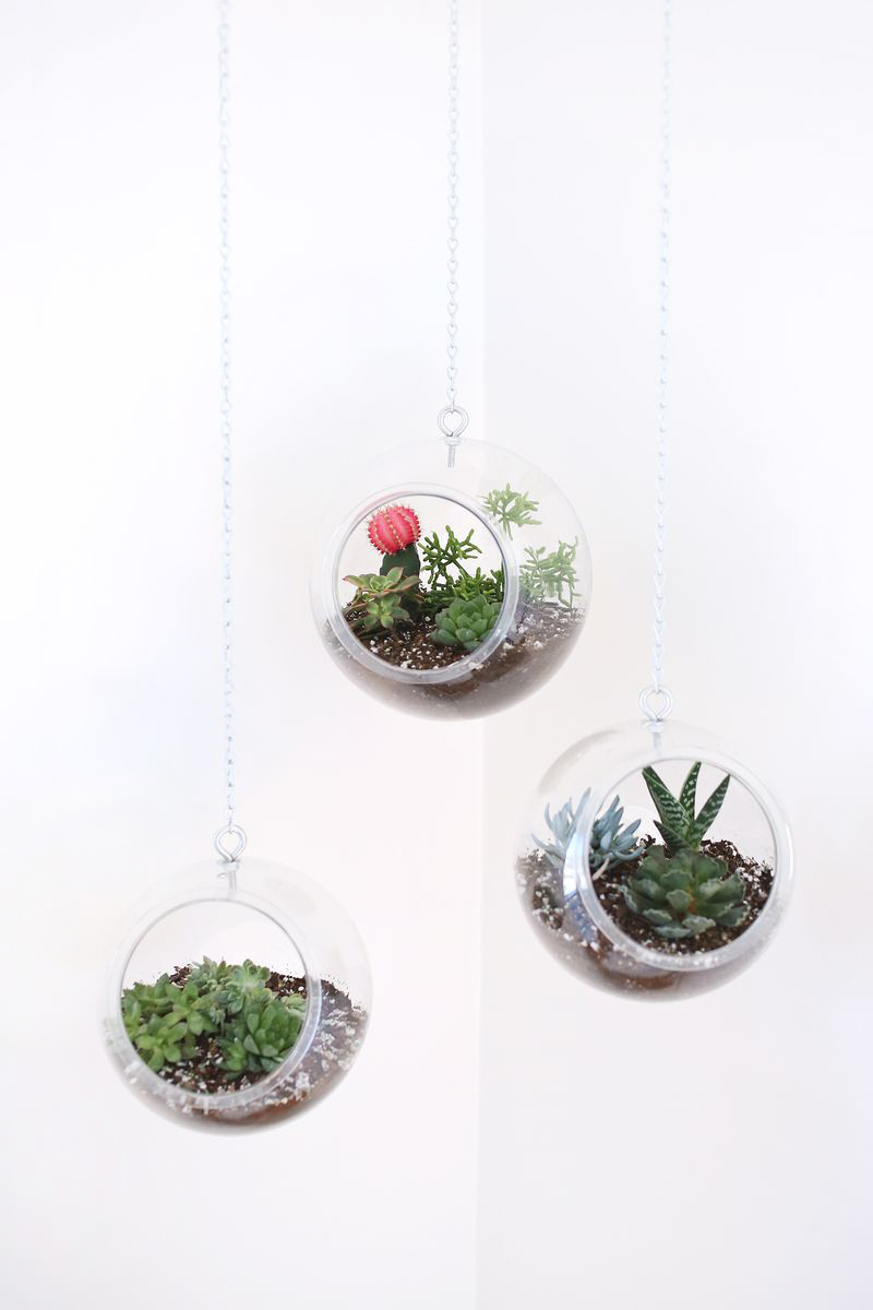 Hanging Planter Made With Plastic Fishbowls A Beautiful Mess