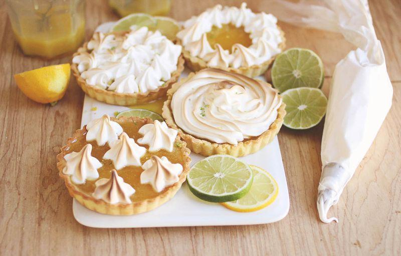 Mini citrus tarts (click through for recipe)