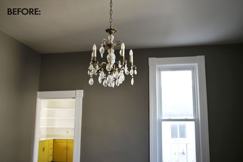 Our Restyled Copper Chandelier abeautifulmess.com copy