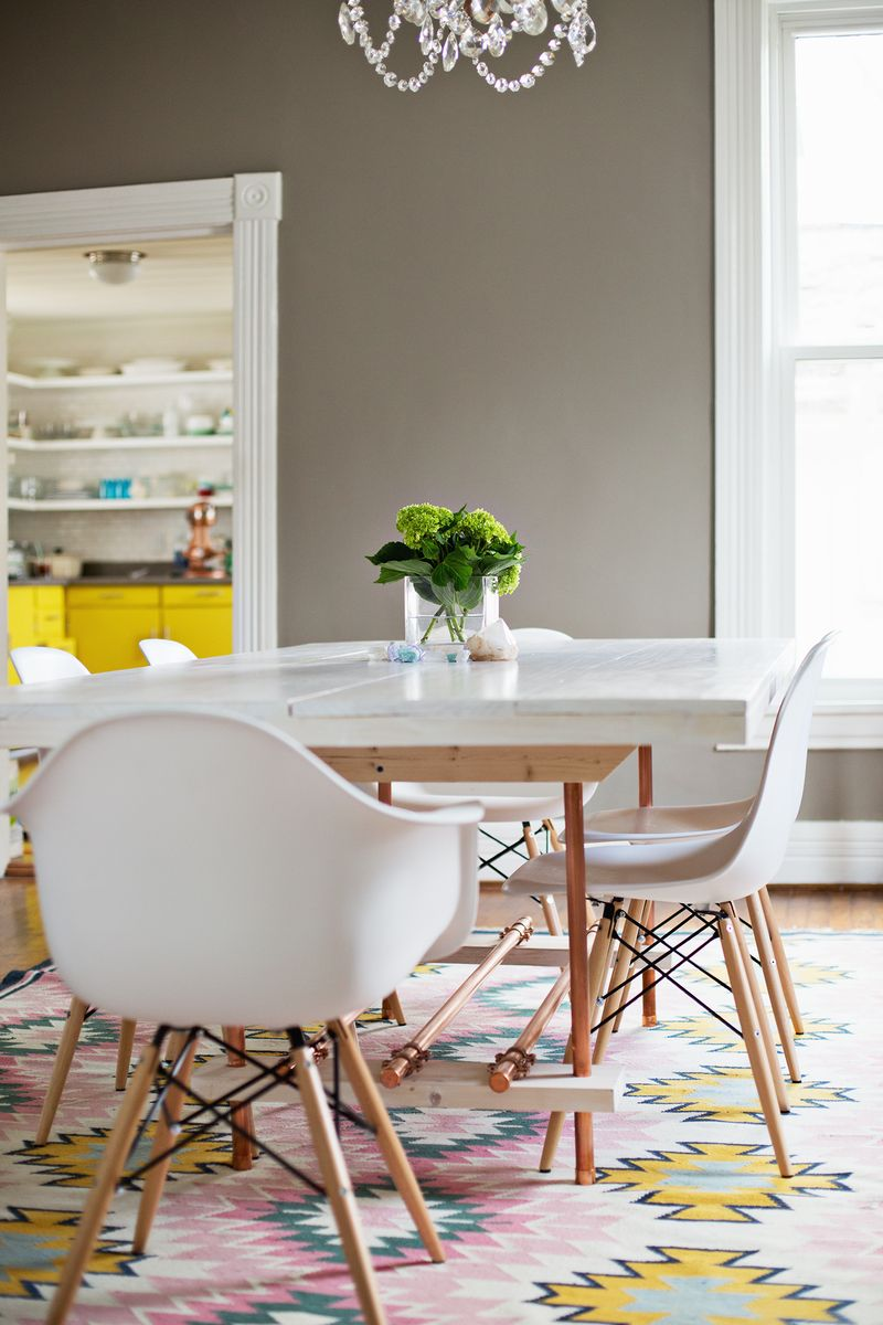 Diy Dining Room Table With Copper Legs A Beautiful Mess