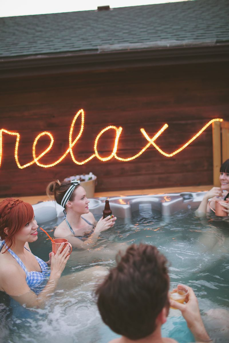 A Beautiful Mess hot tub party!